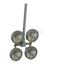 Suchscheinwerfer Hughes 500 (Bausatz, für LED vorbereitet)