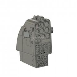 Armaturenkonsole Hughes 500 (Bausatz)