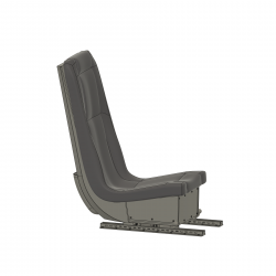 Pilot Seat including upholstery