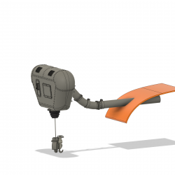 Winch without mounting support