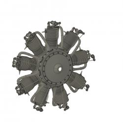 9 Zylinder Sternmotorattrappe für Sopwith Pup