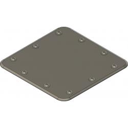 Reviklappenatrappe 25x25mm, quadratisch