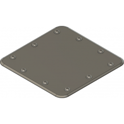 revision flap dummy 25x25mm, square