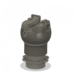 Zylinder ohne Anbauteile für Bramo SH 14 (Dummy)