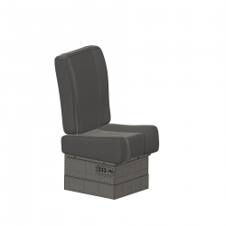 pilot seat right side Hughes 500 smaller for Vario Rumpf