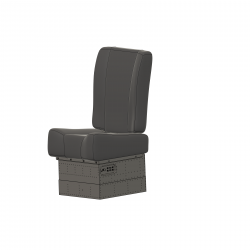 pilot seat left side Hughes 500 smaller for Vario Rumpf