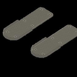 feet rests under pedals
