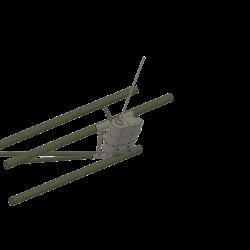 Antenne am Heckausleger, Alouette II