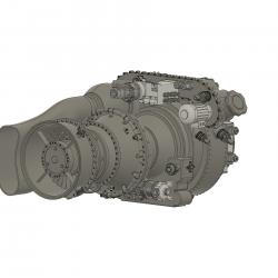 Turbinenattrappe Apache (Bausatz)