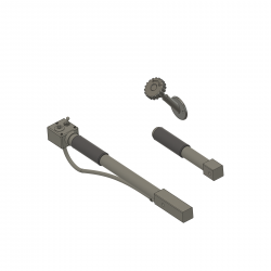 Pitch stick set and hand wheel Bell 47G