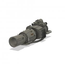 Turbinenattrappe Alouette II