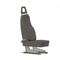 Pilot Seat EC 145 / H155 and other (assembly set)