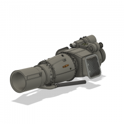 Turbinenattrappe Alouette III (Bausatz)