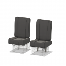 Upholstery wider for pilot seat, Hughes 500