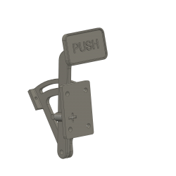 emergency pedal for carrier hook, Bell UH-1D, scale 1/1