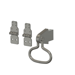 Flap hinges and fitting with ring, CH53