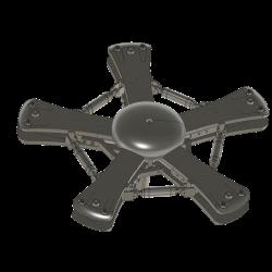 Rotorkopfverkleidung mit Teller für Heliclassics Rotorkopf