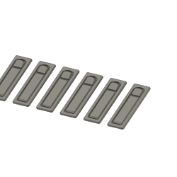 6 Stück Klappenverschlüsse (Dummys), AS 350