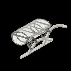 Ski / Transport basket, AS 350, (assembly set)