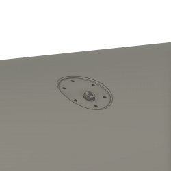 Grounding plug for insert in external fuel tank