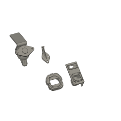 Compass, stopwatch and display hook loading, 8 pieces...