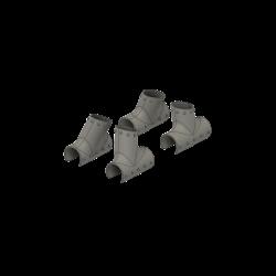 Skid connectors (Dummy), Jet Ranger