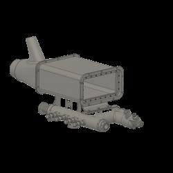Lufteinlass Heizsystem, Alouette II