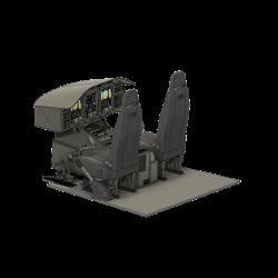 Cockpit Airwolf (Vario 1:5) für LCD Displays (Bausatz)