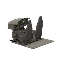 Cockpit Airwolf (Vario 1:5) prepared for display...
