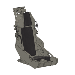 2 Ejection Seats F-5 Tiger, (incl. upholstery)