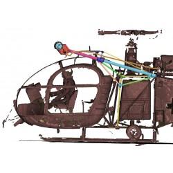 Seilwinde Vario / Heli-Factory Lama / Alouette II, 1:4,...