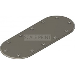 Revisionsklappenattrappe 60x25mm oval