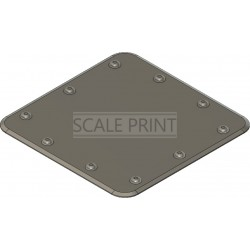 revision flap dummy 30x30mm, square